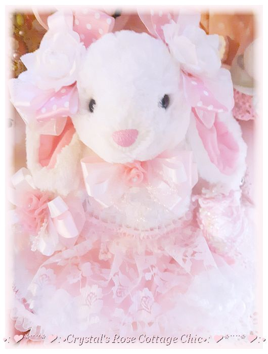 Precious Pink and White Easter Bunny