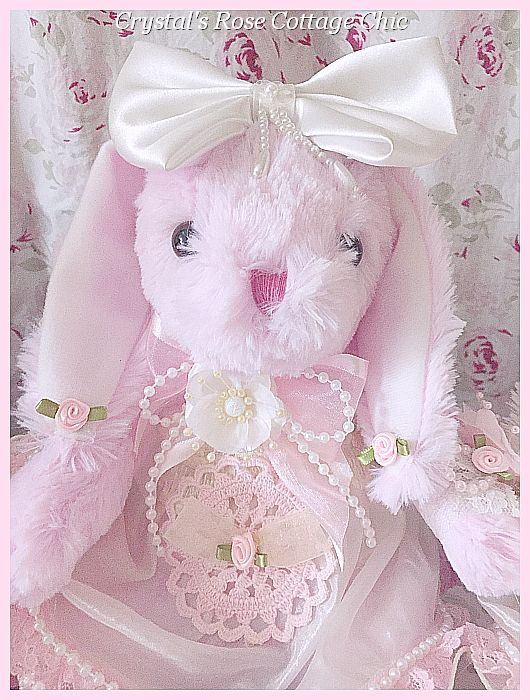 Adorable Pink Bunny with Bow