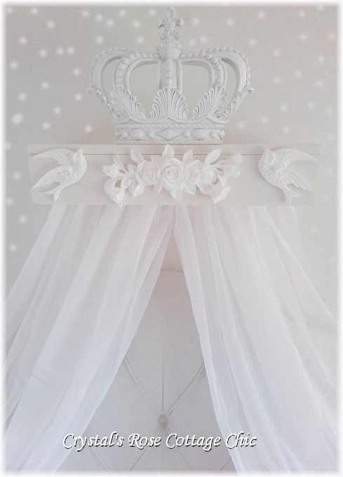 Birds & Roses Bed Crown Canopy Teester...Color Choices