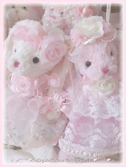Sweet Pink Rose Bunny