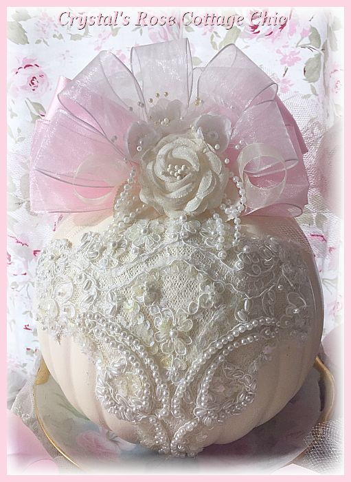 Gorgeous Ivory Lace Pumpkin