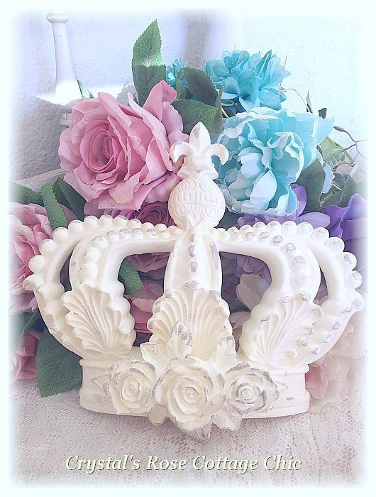 Distressed Vintage Rose Crown...Color Options