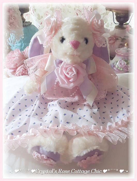 Shabby Chic Rosey Bunny