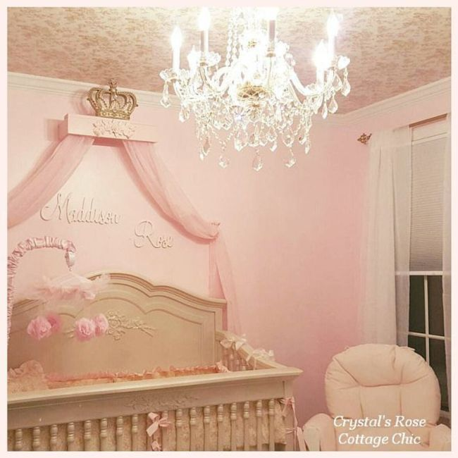 Shabby Rose Bed Crown Teester Canopy