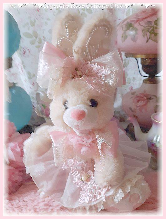 Shabby Chic Ivory Delight Ruffle Bunny