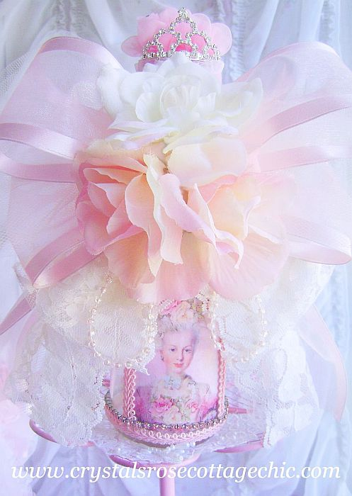 Marie Antoinette Rhinestone Crown Bottle