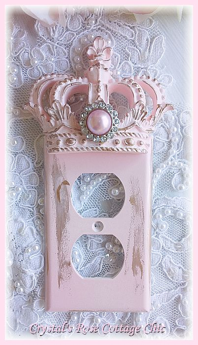 Distressed Crown Wall Outlet Cover ...Color Choices