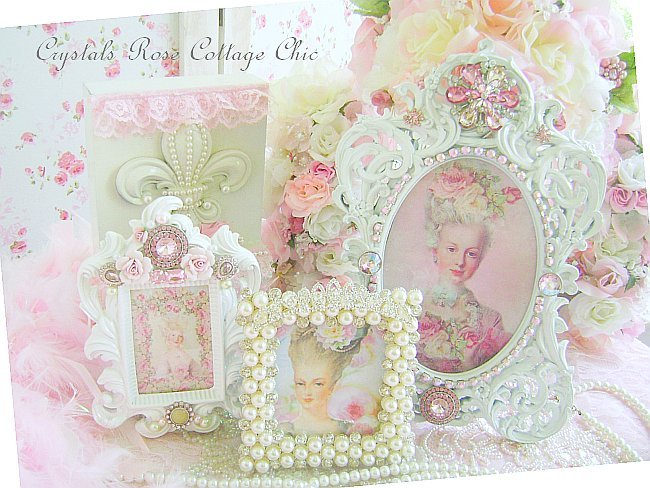 Elegant Pink Bejeweled Frame