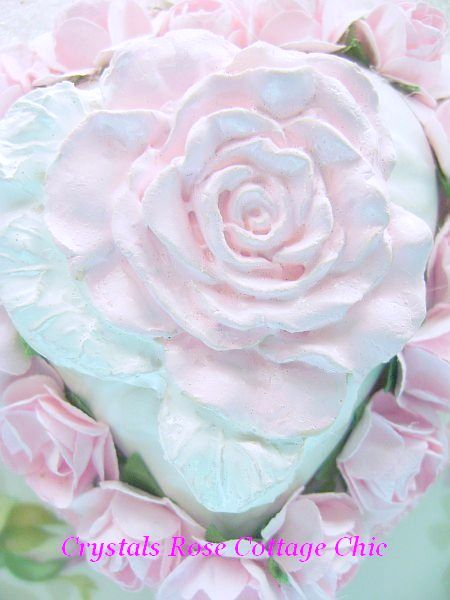 Romantic Shabby Pink Rose Valentine Ornament/Decor
