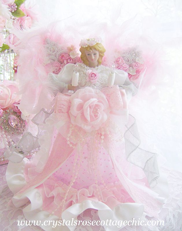 Romantic Rose Angel Tree Topper