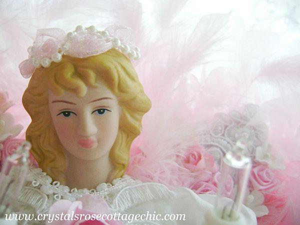 Romantic Rose Angel Tree Topper