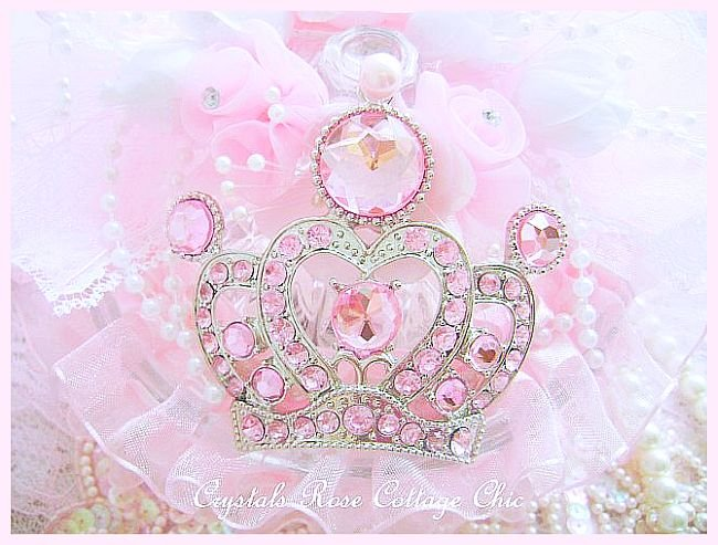 Shabby Pink Crown Trinket/Candy Dish(Treasure Dish)