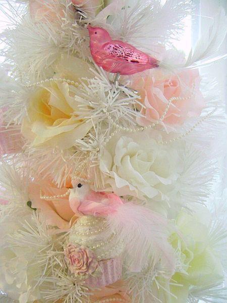 Vintage Look, Pretty Pink Glass Bird Ornaments..Krebs