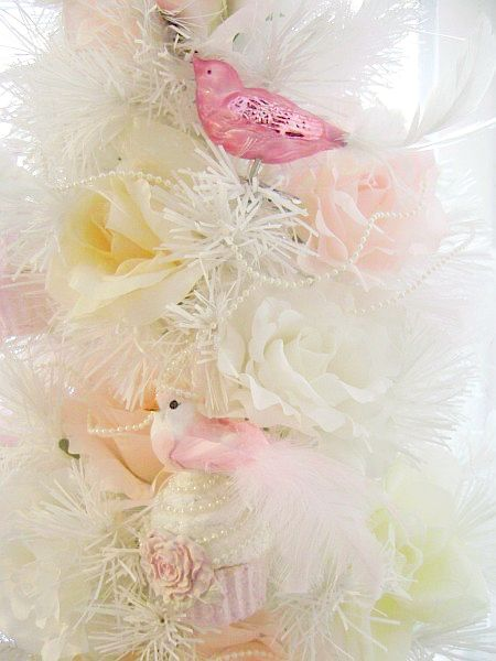 Pretty Pink Princess Bird Cupcake Chic Ornament