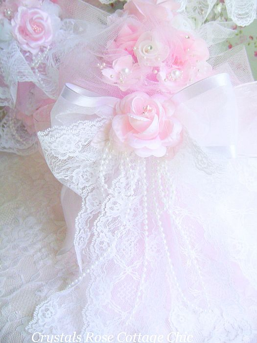 Shabby Pink Rose Victorian Boot