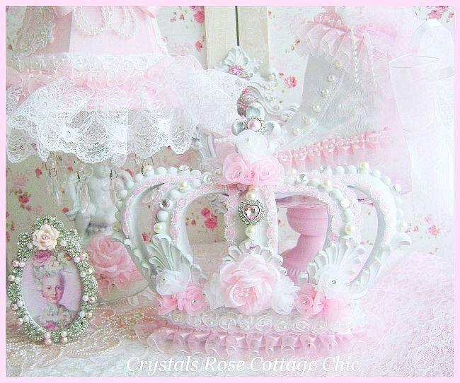 Shabby Pink Princess Fleur de Lis Crown