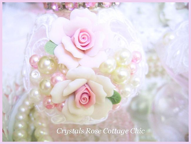 Pink Princess Shabby Rose Perfume Bottle