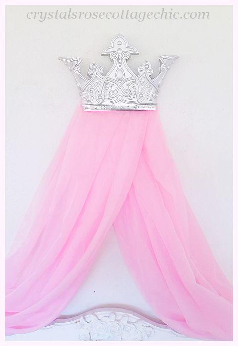 Custom Order.....Silver Dreams Bed Crown Canopy