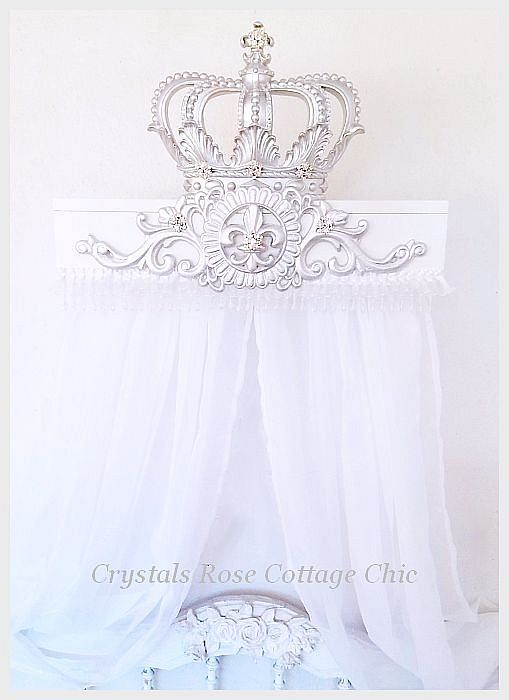 Silver Lux Bed Crown Teester Canopy Party Decor