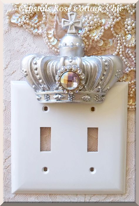 Double Toggle French Cross Crown Wall Plate...Color Choices