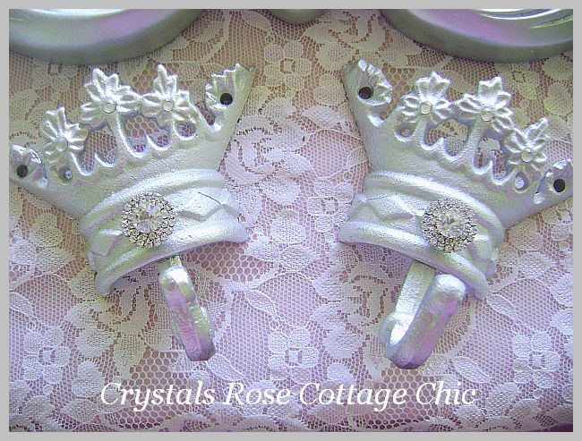 Crown Hook with Crystal Rhinestones..Color Options