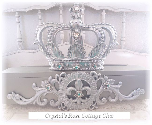 Silver and Pewter Bed Crown Canopy Teester...Free Shipping