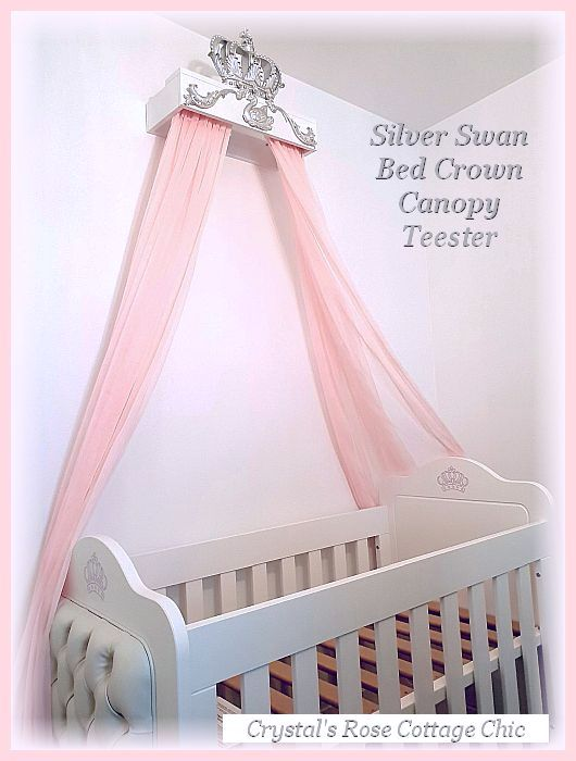 silver swan bed crown canopy teester