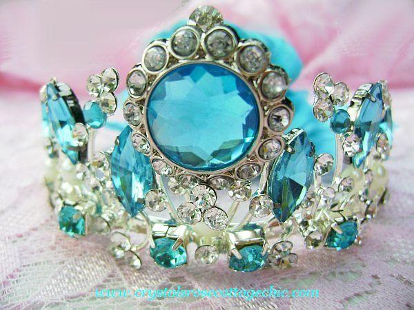 Beautiful Blue Bejeweled Tiara
