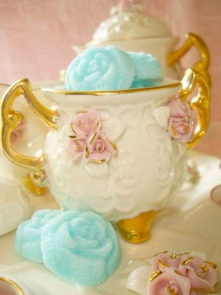 Turquoise Sugar Roses