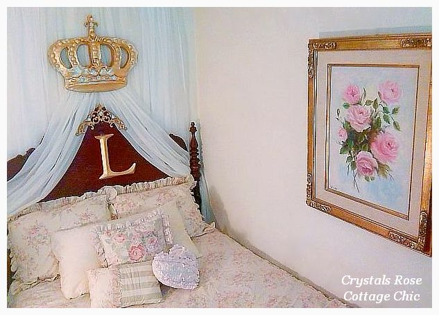 Crystal Rhinestone Fleur de Lis Bella Bed Crown Set...Color Options