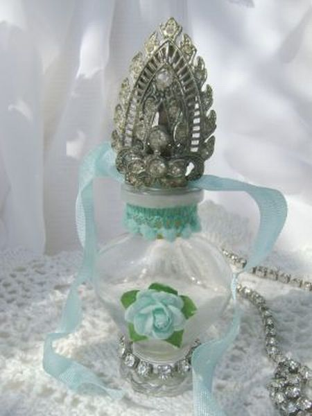 La Petite Tiffany Blue Vintage Perfume Bottle