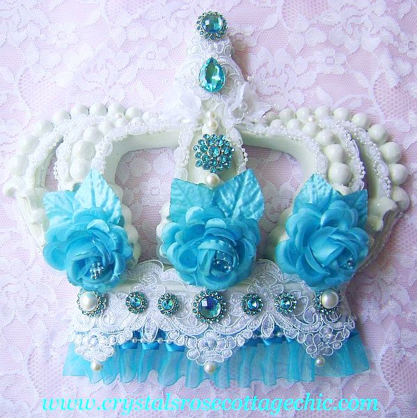 Tiffany Blue Luxury Bejeweled Crown