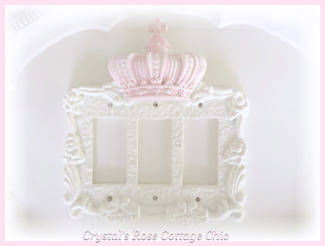 Victorian Rose Triple Rocker with Crown Switchplate... Color Options