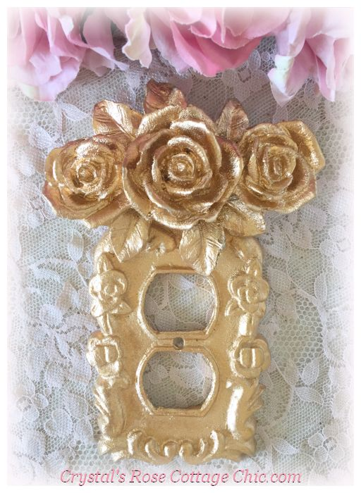 Triple Rose Victorian Outlet Cover