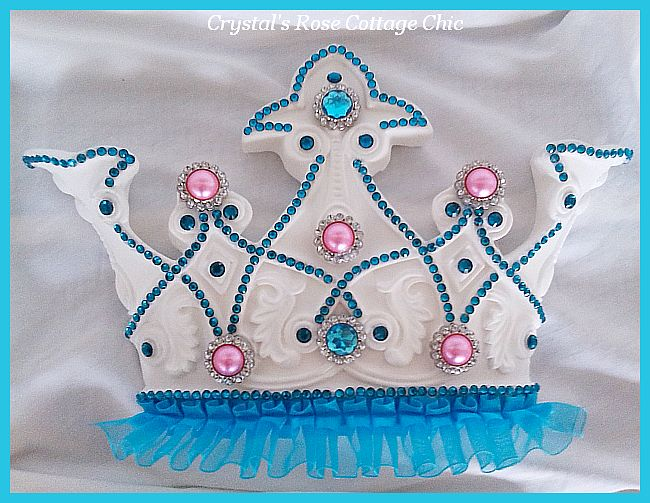 Turquoise and Bubble Gum Bed Crown Canopy Set...Color Choices