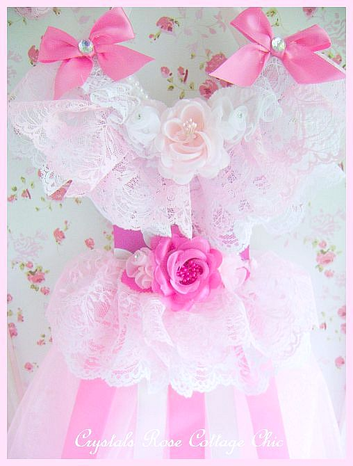 Pink Princess Tutu Bow Holder