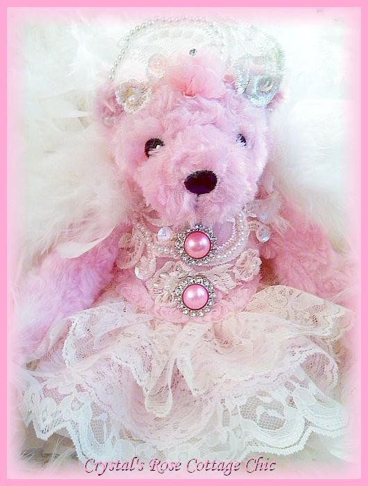 Rose Pink Princess Angel Bear