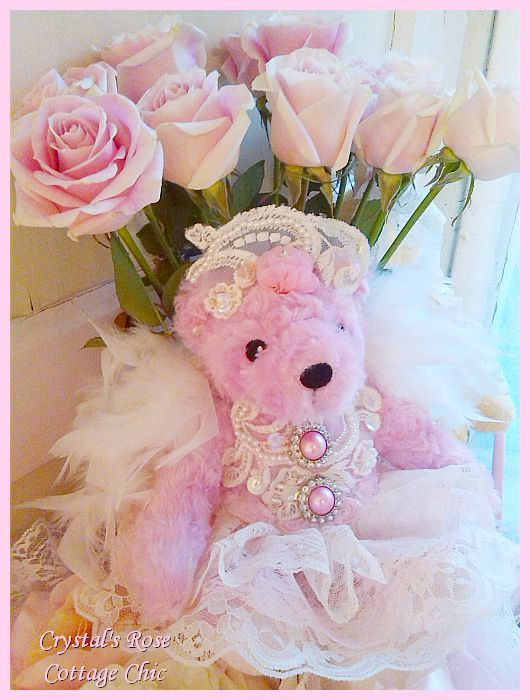 Rose Pink Princess Angel Bear