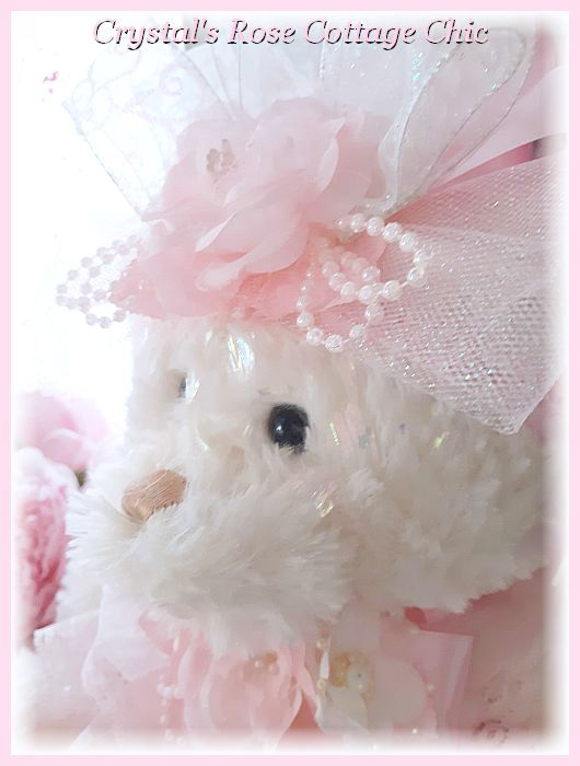 Pink Lace Love Bear