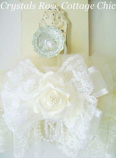 Victorian Ivory Rose Hanger