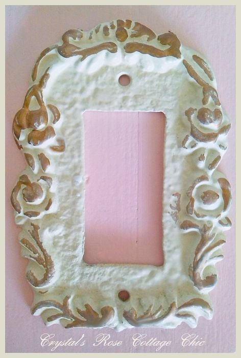 Single Rocker Victorian Rose Wall Plate... Color Options