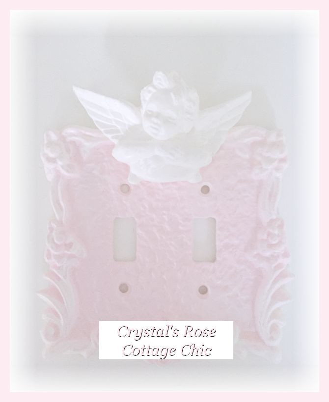 Victorian Cherub Double Toggle Switchplate...Color & Finish Options