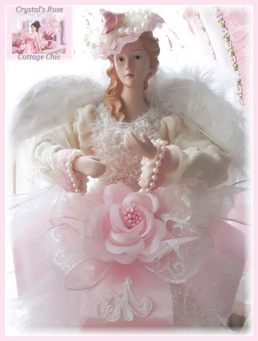 Chic Pink Victorian Finesse Angel Tree Topper