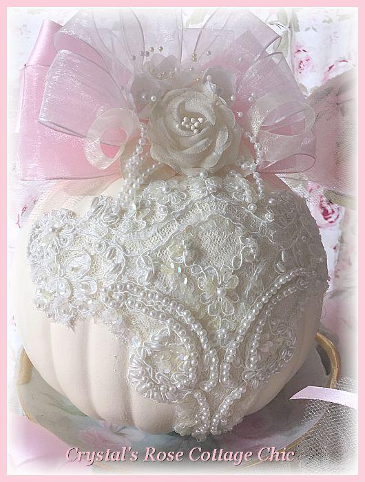 Gorgeous Ivory Lace Pumpkin