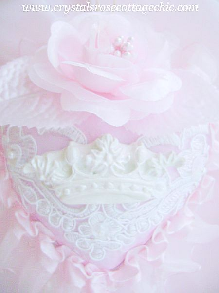 Chic Pink Decadence Crown Ornament
