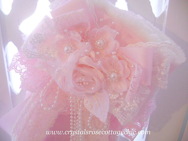 Victorian Rose Pink Stocking