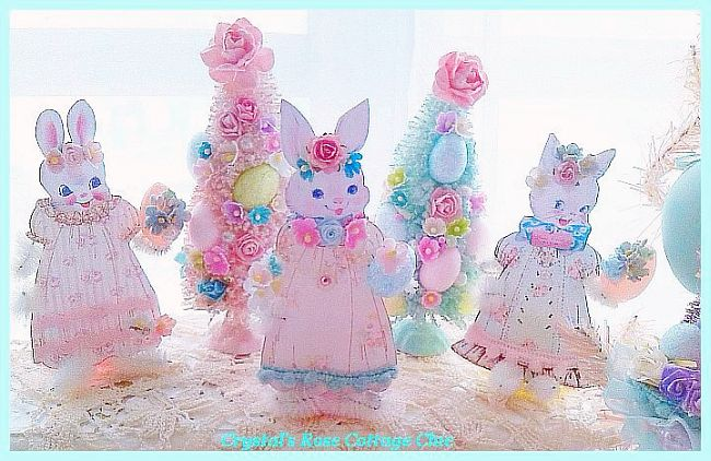 "Shabby Vintage Easter ""Rose"" Bunny"