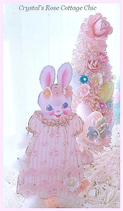 "Shabby Vintage Easter ""Rosalie"" Bunny"