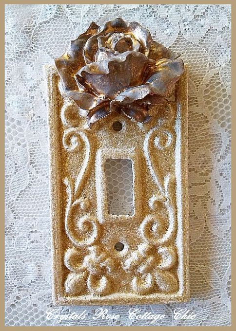 Vintage Rose French Wall Plate..Color & Size Choices
