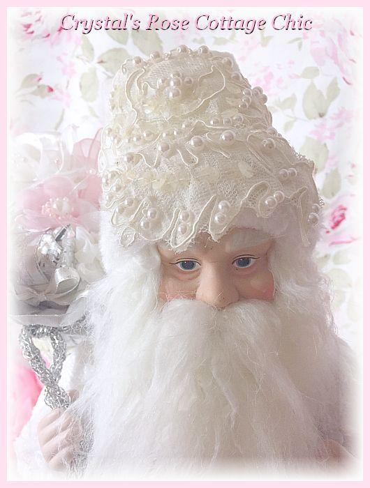 Vintage Lace Shabby Santa